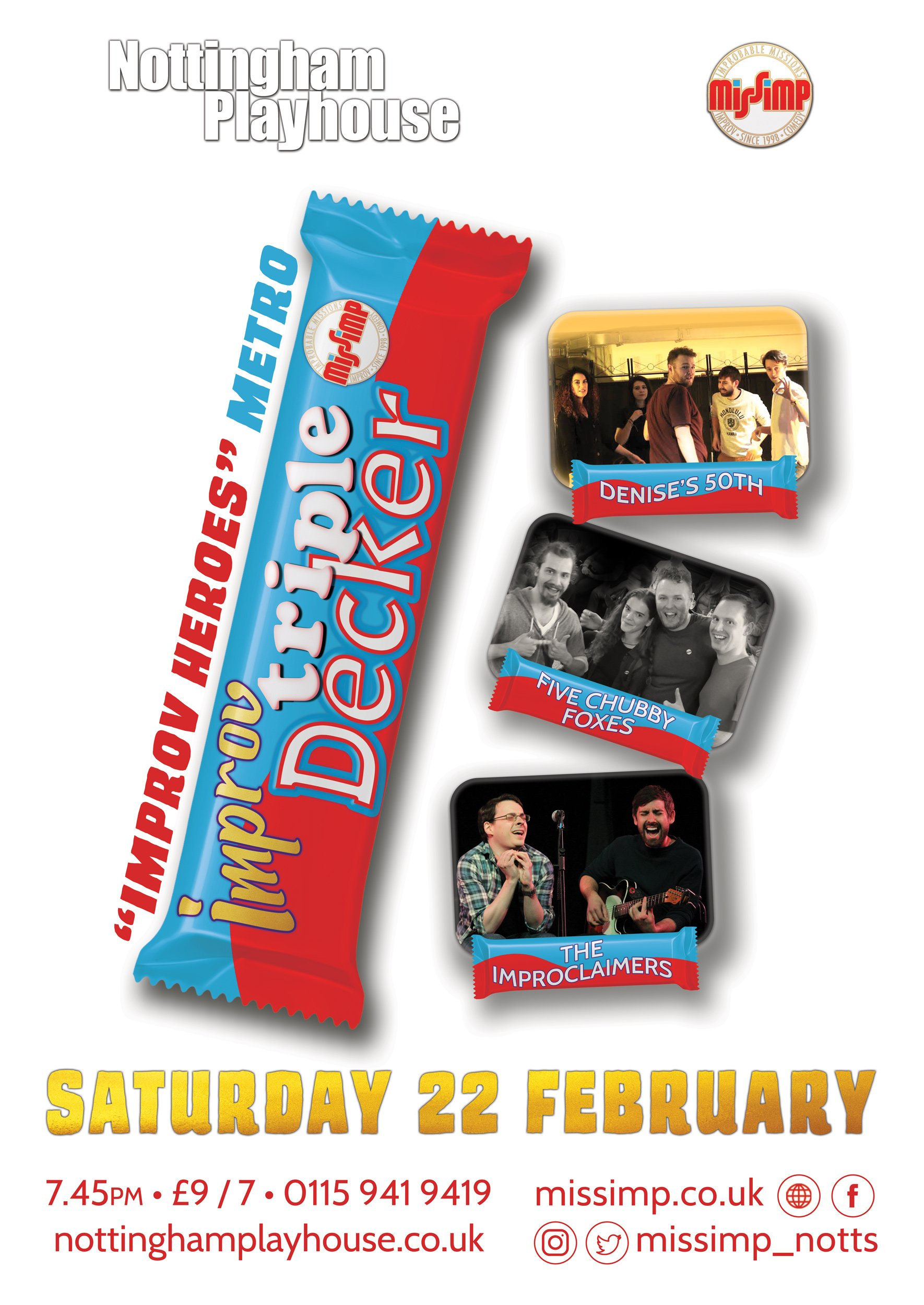 Improv Triple Decker - February 2020 at Nottingham Playhouse
