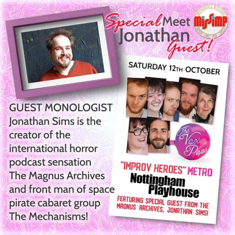 It's Jonathan Sims!